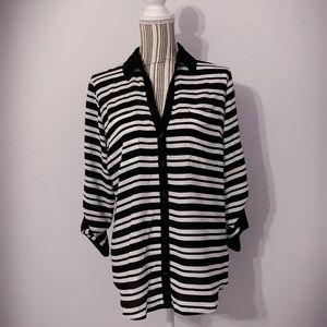 Express Portofino Striped Shirt | Large